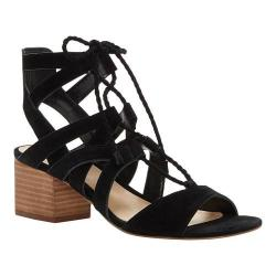 Women's Vince Camuto Fauna Ghillie Lace up Sandal Black True Suede