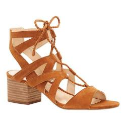 Women's Vince Camuto Fauna Ghillie Lace up Sandal Maple Brown True Suede