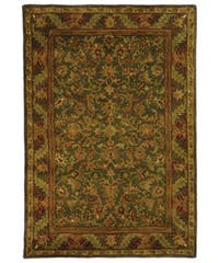 Safavieh Handmade Antiquities Kerman Charcoal Green Wool Rug (3' x 5')