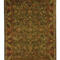 Safavieh Handmade Antiquities Kerman Charcoal Green Wool Rug - 3' x 5'