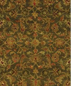 Safavieh Handmade Antiquities Kerman Charcoal Green Wool Rug (4' x 6')