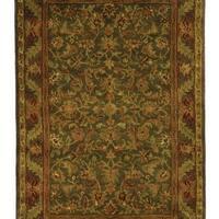Safavieh Handmade Antiquities Kerman Charcoal Green Wool Rug - 4' x 6'
