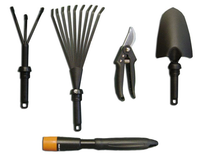 5 In 1 Garden Tool Set With Interchangeable Handles