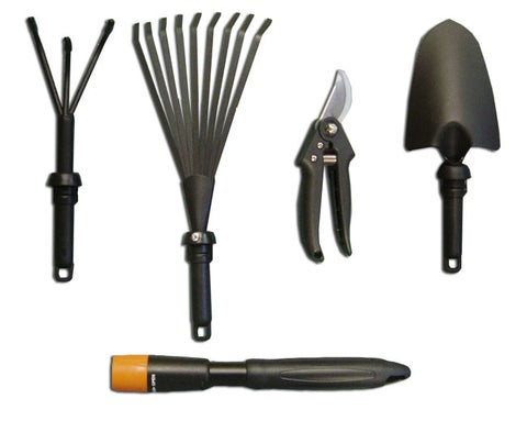 5-in-1 Garden Tool Set with Interchangeable Handles