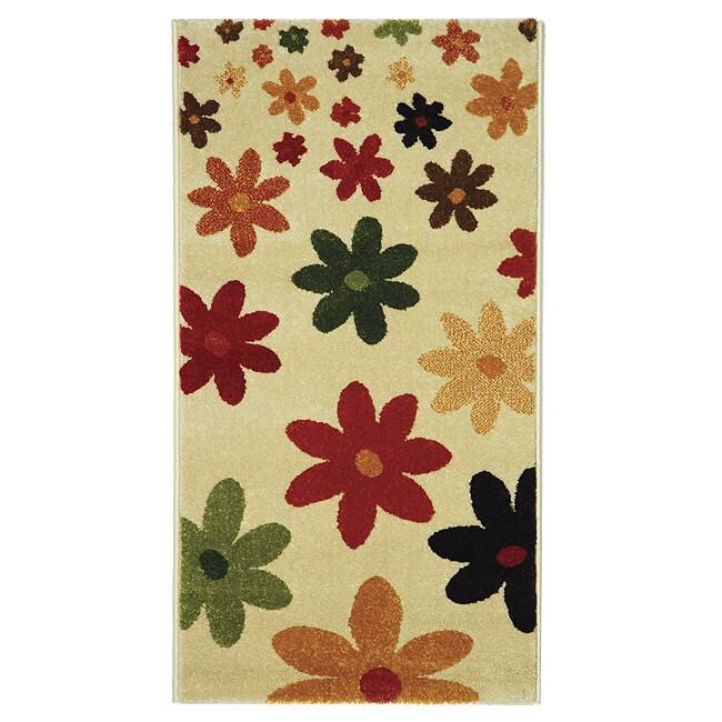 Safavieh Porcello Fine-spun Daises Cream/ Multi Area Rug (2' x 3'7)