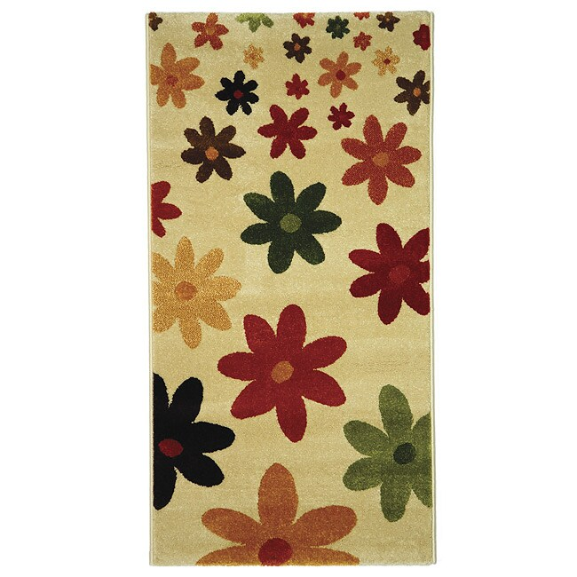 Safavieh Porcello Fine-spun Daises Cream/ Multi Area Rug (2'7 x 5')