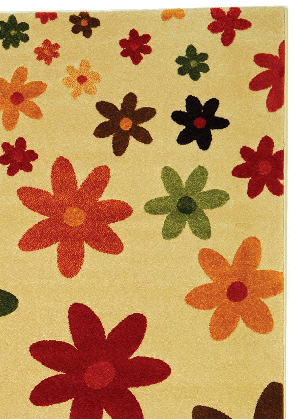 Safavieh Porcello Fine-spun Daises Cream/ Multi Area Rug (5'3 x 7'7)
