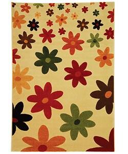 Safavieh Porcello Fine-spun Daises Cream/ Multi Area Rug (6'7 x 9'6)