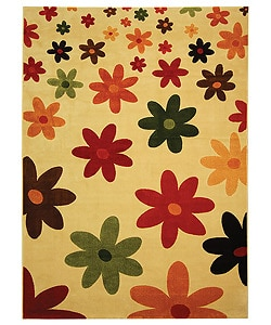 Safavieh Porcello Fine-spun Daises Cream/ Multi Area Rug (8' x 11' 2 )
