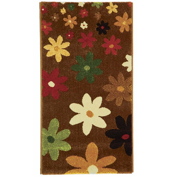Safavieh Porcello Fine-spun Daises Brown/ Multi Area Rug (2' x 3'7)