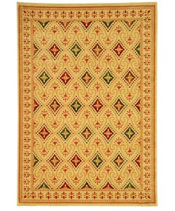 Safavieh Porcello Fine-spun Regal Cream/ Multi Area Rug (4' x 5'7)