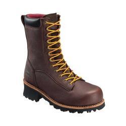 Men's Avenger A7356 Composite Toe Waterproof PR Logger Boot Brown Full Grain Leather