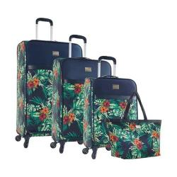 Tommy Bahama St Kitts 4 Piece Luggage Set Printed Coral