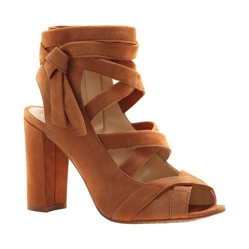 8a21b086d4f Women  x27 s Vince Camuto Sammson Block Heel Sandal Maple Brown True Suede