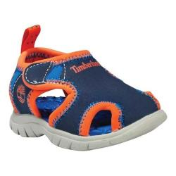 Children's Timberland Little Harbor Closed Toe Sandal Navy Royal/Orange Synthetic