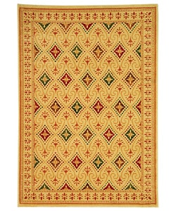 Safavieh Porcello Fine-spun Regal Cream/ Multi Area Rug (6'7 x 9'6)