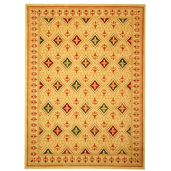 Safavieh Porcello Fine-spun Regal Cream/ Multi Area Rug (8' x 11'2)