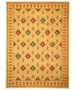 Safavieh Porcello Fine-spun Regal Cream/ Multi Area Rug (8' x 11' 2 )