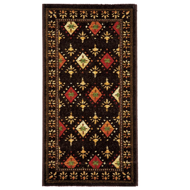 Safavieh Porcello Fine-spun Regal Chocolate/ Multi Area Rug (2' x 3'7)
