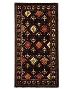 Safavieh Porcello Fine-spun Regal Chocolate/ Multi Area Rug (2' x 3'7)