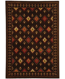 Safavieh Porcello Fine-spun Regal Chocolate/ Multi Area Rug (5'3 x 7'7)