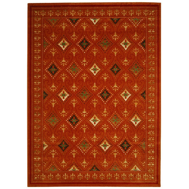 Safavieh Porcello Fine-spun Regal Orange/ Multi Area Rug (8' x 11' 2 )