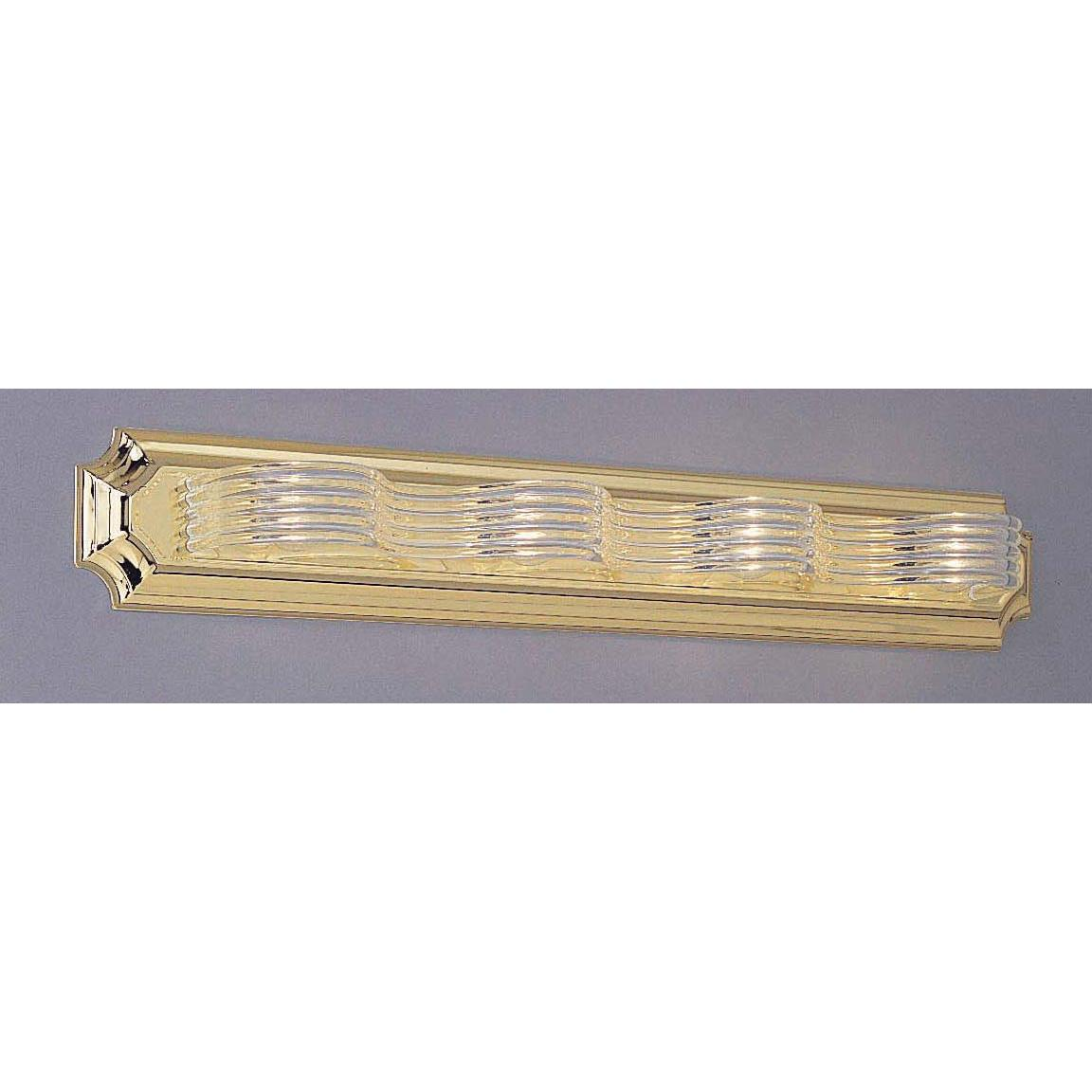 Brass Acrylic 4-light Wave Bath Fixture