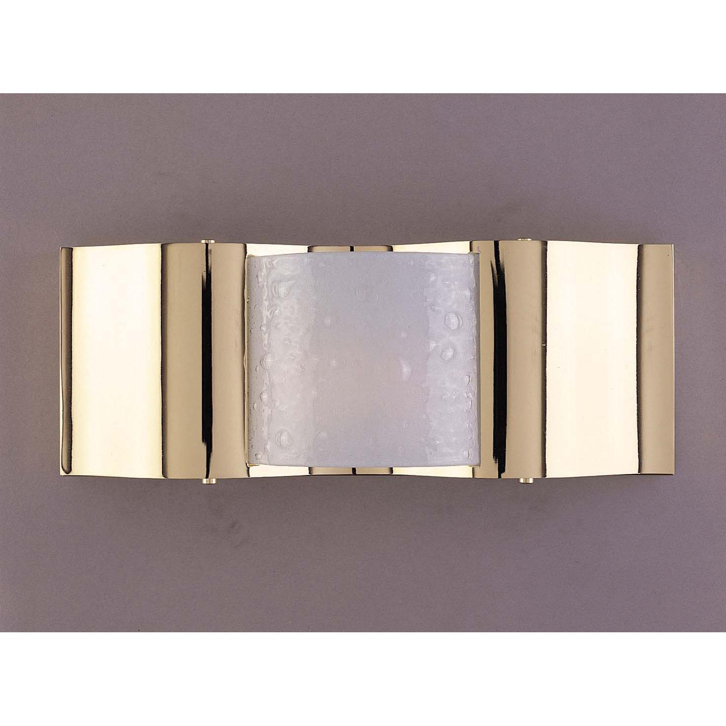 Metro 1-light Halogen Brass Wall Sconce