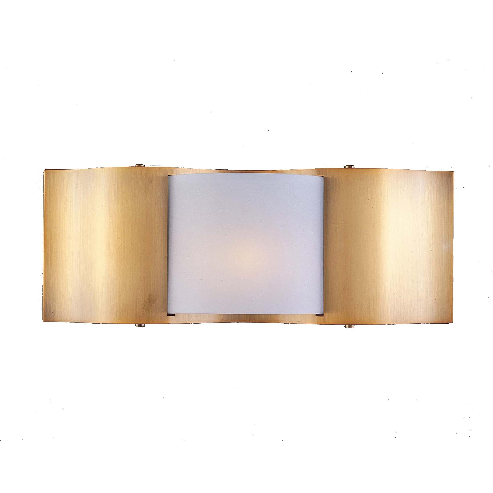Metro II 1-light Gold Beige Halogen Wall Sconce