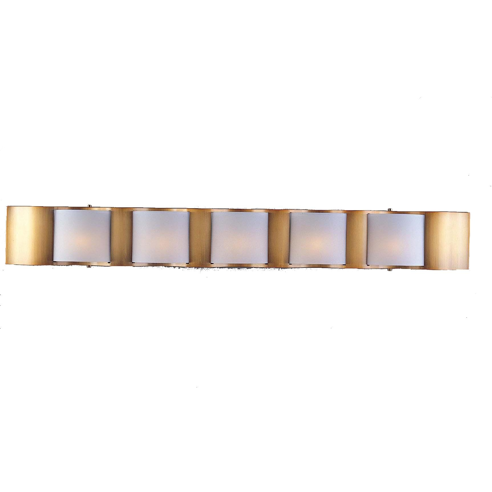 Metro II 5-light Beige Gold Halogen Bath Light