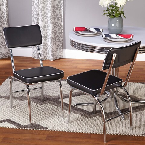 Simple Living Bistro Retro Chair (Set of 2) - N/A