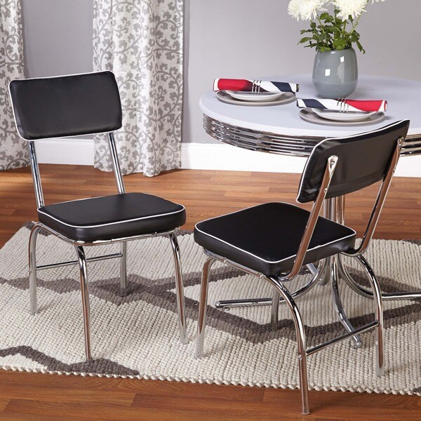 Retro Dining Room Chairs: Simple Living Bistro Retro Chair (Set Of 2)