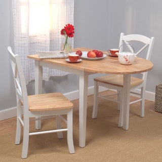 Simple Living Country Cottage Drop Leaf 3 Piece Dining Set