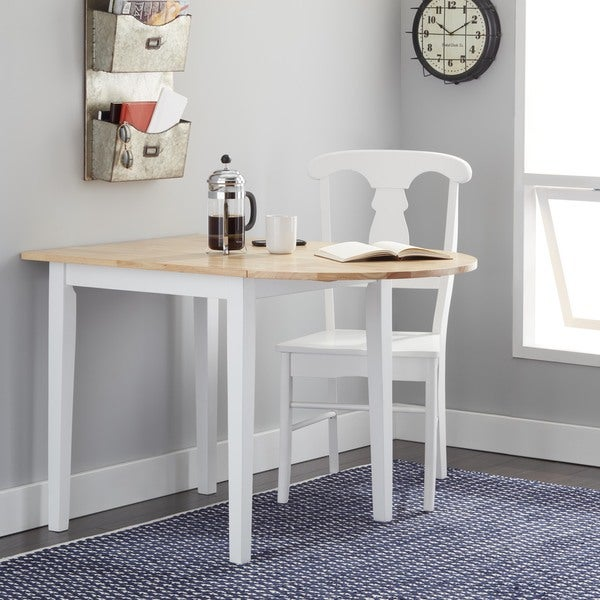 Simple Living Country Cottage Dining Table Natural White