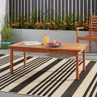 Amazonia Milano Natural Wood Coffee Table