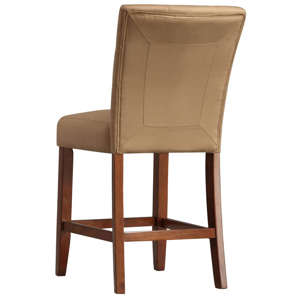 Tribecca Home Tufted Button Back Peat Microfiber Side: Buy Counter & Bar Stools Online At Overstock
