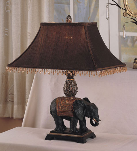 Shop Antique Elephant Style Table Lamp Set Of 2 Free