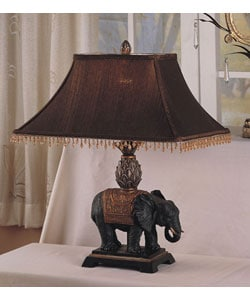 Antique Elephant  Style Table Lamp (Set of 2)