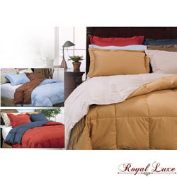 Royal Luxe Reversible Down Comforter and Sham Set