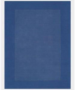 Hand-tufted Blue Border Wool Rug (5' x 8') - Thumbnail 0