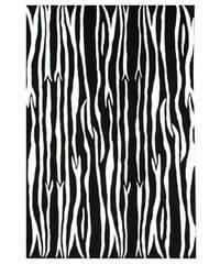 Hand-tufted Snow/ Black Wool Rug - 8' x 10'6
