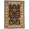 Hand-tufted Black/Ivory Wool Rug (8' x 10'6) - 8' x 10'6""