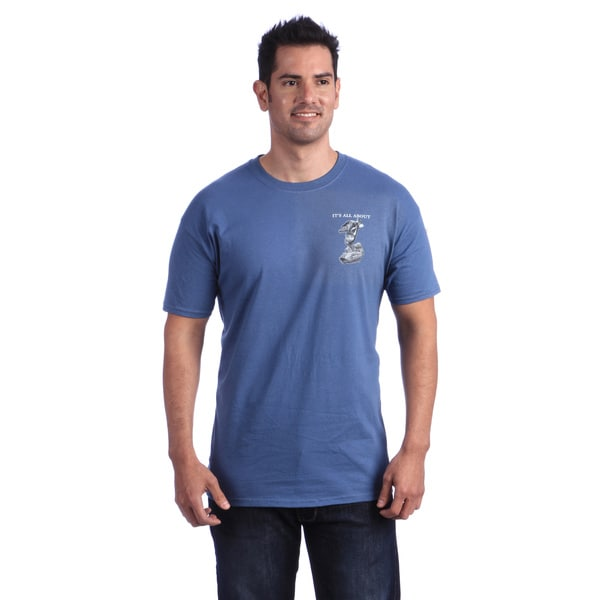 It's All About Baseball Men's Blue T-shirt