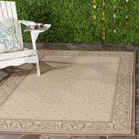 "Safavieh Bay Natural/ Brown Indoor/ Outdoor Rug - 5'3"" x 7'7"""