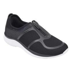 Women's Easy Spirit Gemela2 Zip Up Sneaker Black Mesh