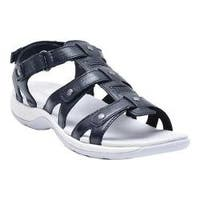 Women's Easy Spirit Sailors Sandal Black Leather