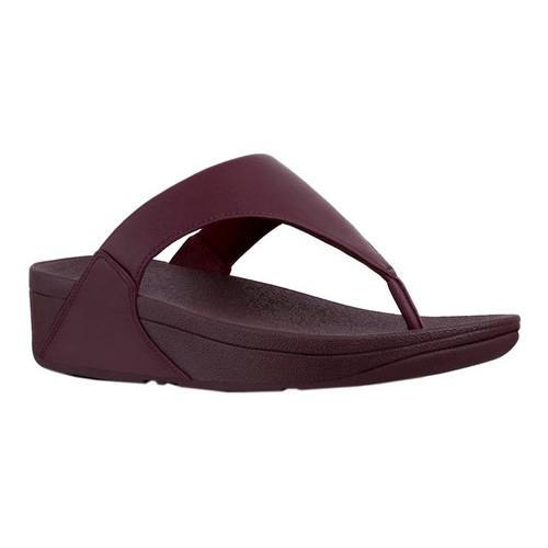 06698f661720 Shop Women s FitFlop Lulu Thong Sandal Deep Plum Leather - Free Shipping  Today - Overstock - 21153028