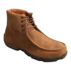 Men's Twisted X Boots MDMAL01 Alloy Toe Driving Moc Distressed Saddle Leather