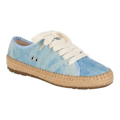 Women's EMU Agonis Espadrille Sneaker Light Denim Distressed Canvas
