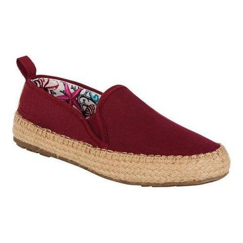 Women's EMU Gum Espadrille Sneaker Rich Red Canvas